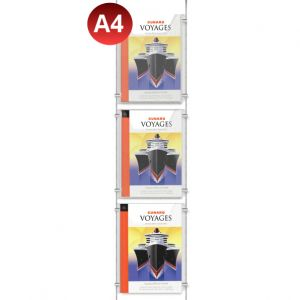 3x A4 Leaflet Dispenser Kit
