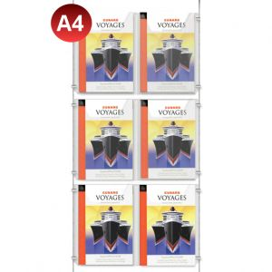 6x A4 Leaflet Dispenser Kit - On A2 Centres