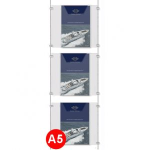 3x A5 Leaflet Dispenser Kit